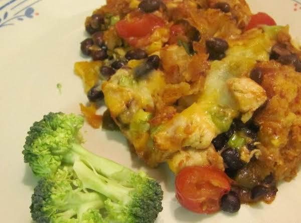 Chicken Cheese Enchilada Black Bean Casserole