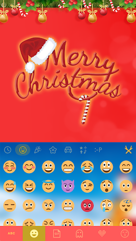 android Merry Christmas Keyboard Color Screenshot 1