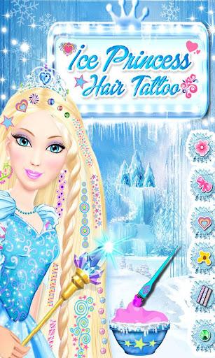Ice Princess Hair Tattoo