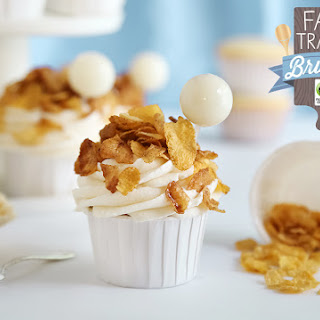 Toasted Corn Flakes Cupcakes with Cereal Milk Pipettes.