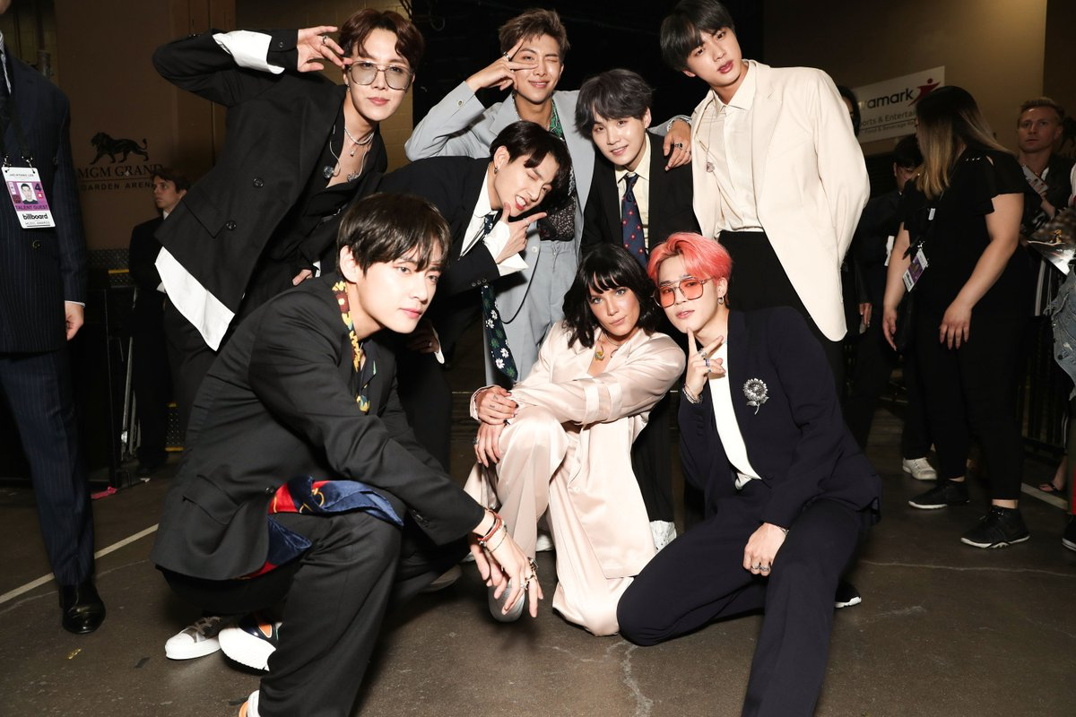 BTS's Reactions To Halsey's BBMAs Performance Will Warm Your Heart