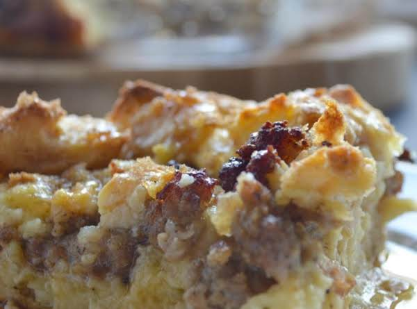 Maple Sausage French Toast Bake #brunchweek Recipe