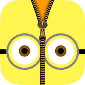 Zipper Lock Screen For Minion