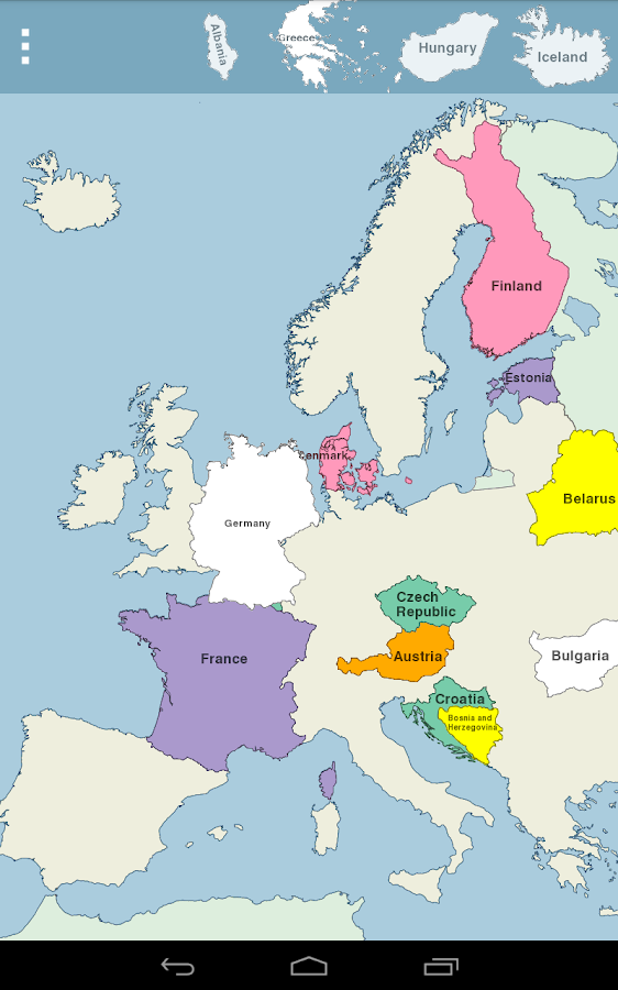 Europe Map Puzzle Android Apps on Google Play