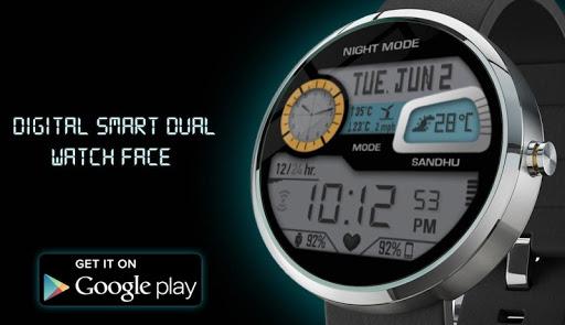 Digital Smart Dual Watch Face