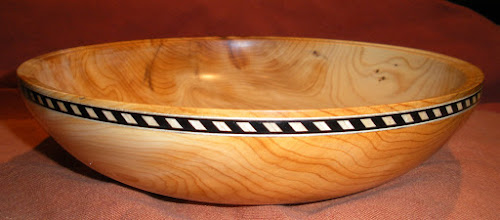 Photo: Pacific Yew with Inlay 9 x 2 1/4
