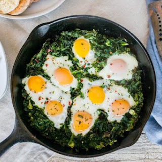 Baked Eggs With Crispy Kale