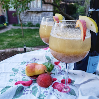 Grilled Peach Pear Bellini Recipe