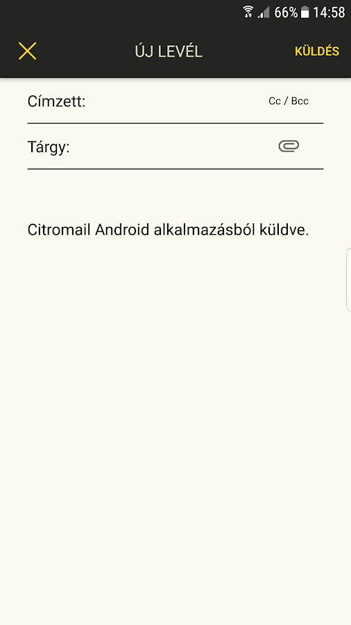 CitroMail- screenshot