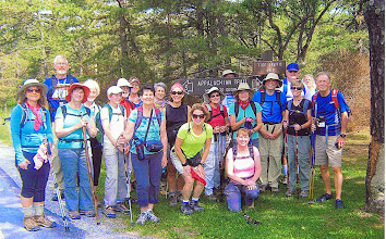 Photo: Our entire hiking group, just before setting out on the first day.
