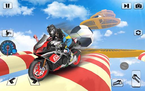 bicyclette impossible pistes course: moto cascades  captures d'écran 2