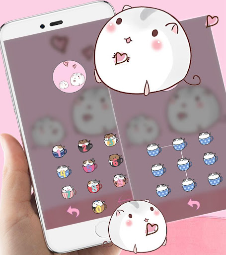 Cute Cup Cat Theme Kitty Wallpaper & icon pack screenshot 4