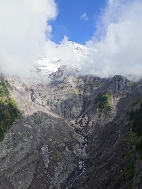 Mildred Point, Mount Rainier hides behind clouds