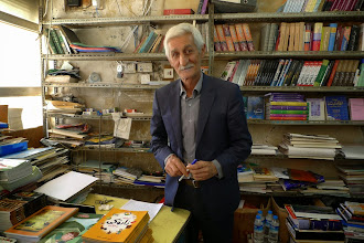 Photo: Ehmedê Zero, poet, writer, owner of the bookstore in the center of Duhok, 2014