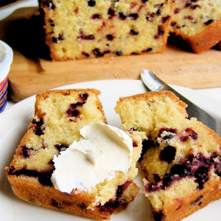 Lemon Huckleberry Tea Cake