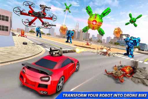Drone Robot Car Transforming Gameu2013 Car Robot Games screenshots 6