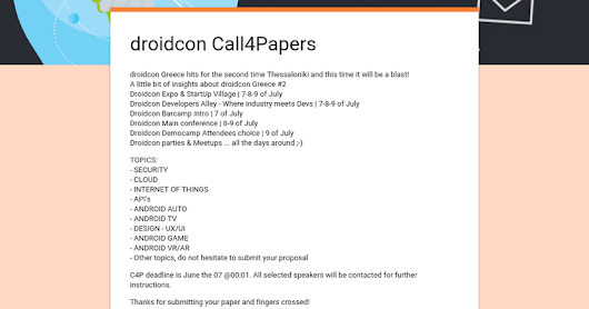 droidcon Call4Papers
