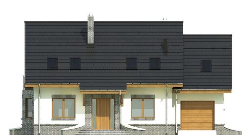 Dom Dla Ciebie 2 w2 z garażem 1-st. A - Elewacja przednia