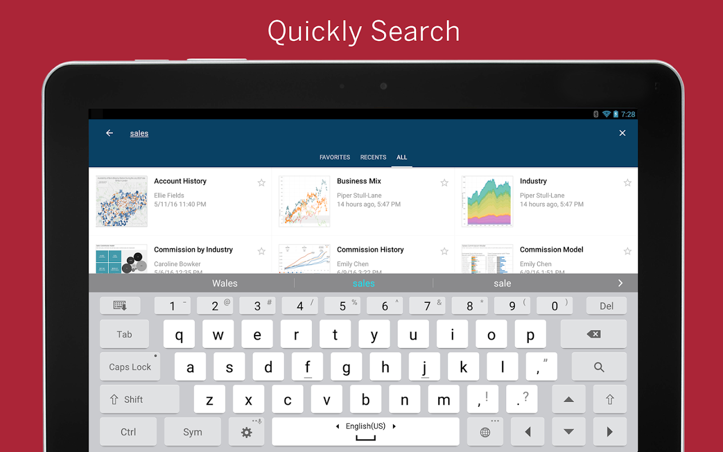 Tableau Mobile- screenshot