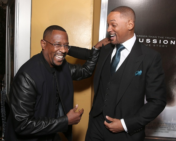 Actors Martin Lawrence and Will Smith.