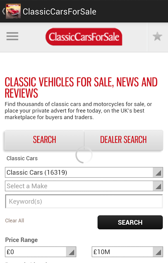Classic Cars for Sale- screenshot