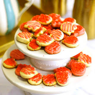 Strawberry Sugar Cut-Out Cookies.