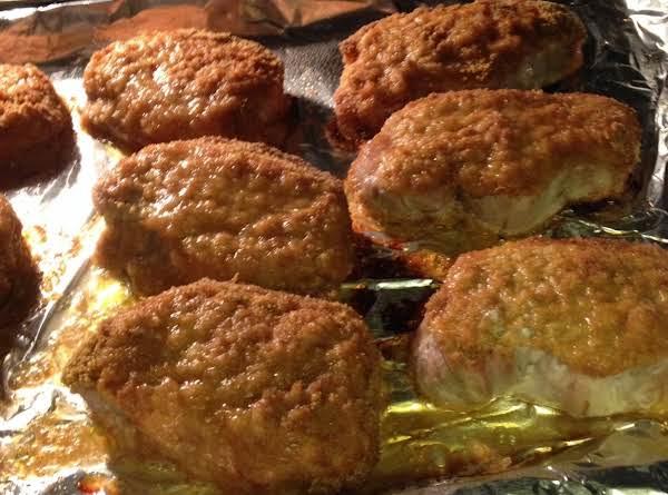 Double Mustard Pork Chops