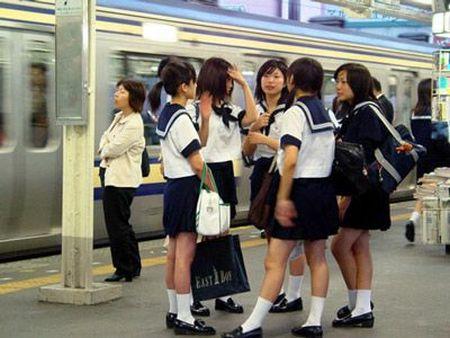 Asian girl in subway
