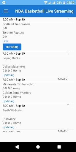 NBA Basketball 2018 Live Streaming  screenshots 1