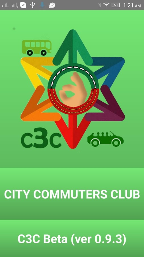 C3C CabCarpool, city bus, Chat- screenshot