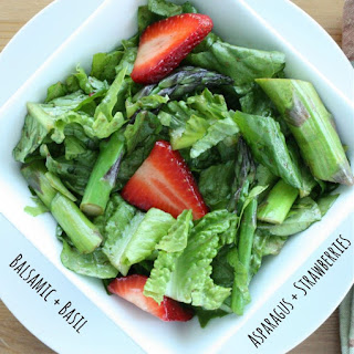 How to Make Asparagus and Strawberry Salad with Balsamic and Basil Lunch.