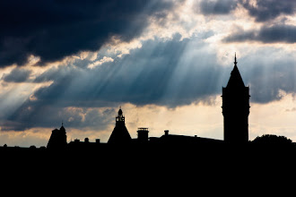 Photo: A moody sky one evening over Luxembourg City.
