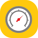 Barometer thermometer icon