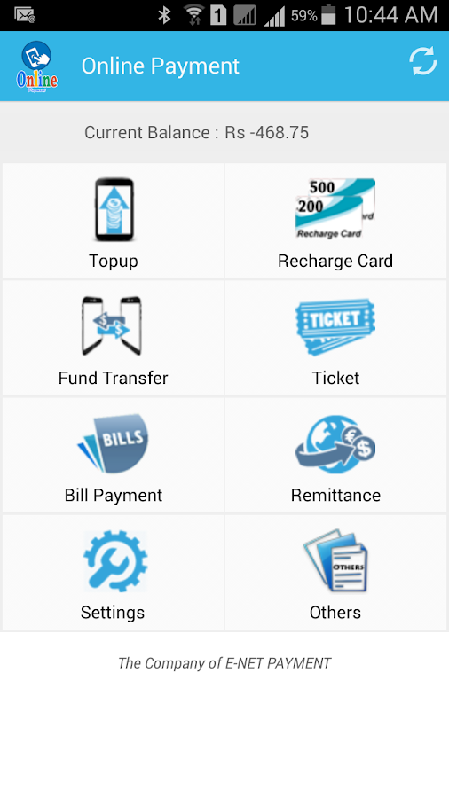 onlinepayment- screenshot