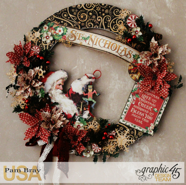 Graphic 45 St Nicholas Wreath by Pam Bray -Tutorial- Petaloo and Xyron - Photo 3_1910