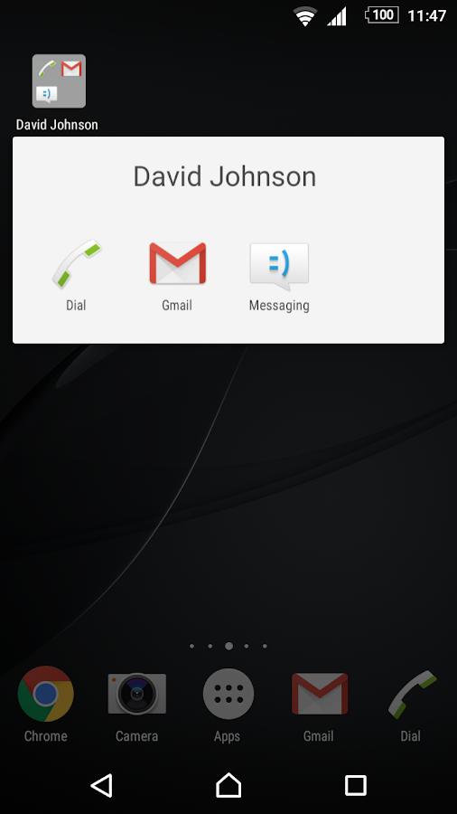 Speed dial for Phone/Mail/SMS- screenshot
