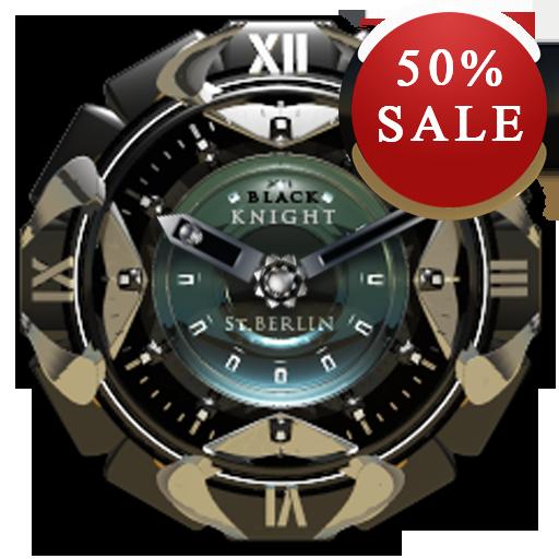Black K Analog Clock Widget