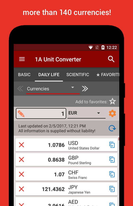 1A Unit Converter pro- screenshot