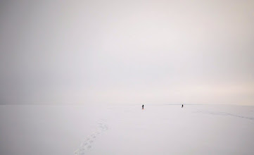 Photo: Over the frozen sea.   For #MinimalMonday, curated by +Olivier Du Tré.