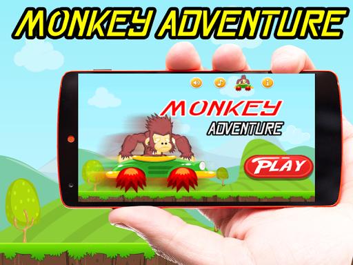 Racing monkey run cars