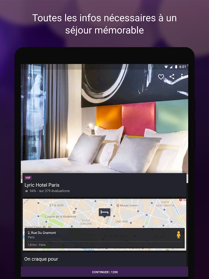 Hotel tonight meilleurs prix applications android sur for O meilleur prix hotel