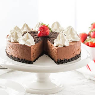 No Bake Baileys Chocolate Cheesecake.