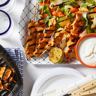 Chipotle Chicken Satay with Grilled Vegetables Recipe