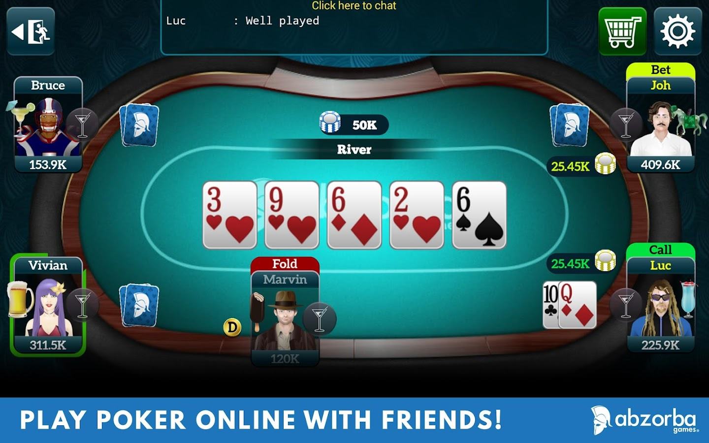 Live Poker Tables–Texas holdem- screenshot