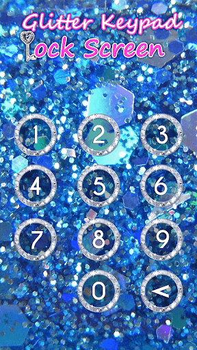 Glitter Keypad Lock Screen 5.0 screenshots 6