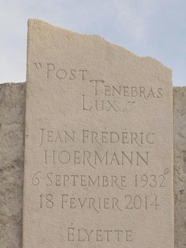 Stèle funéraire protestante