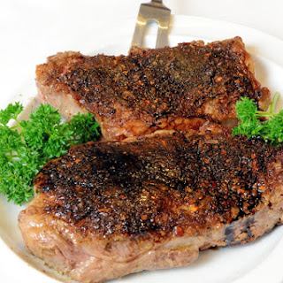 Portabella Crusted Strip Steak with Balsamic Reduction (Capital Grille Porcini Crusted Delmonico)