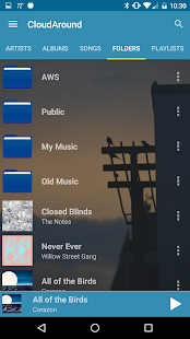CloudAround Music Player Screenshot
