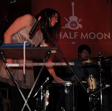 Photo: Jules Burt on the one drum