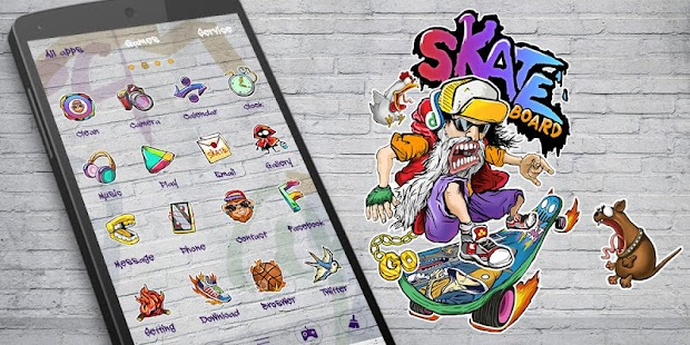 Skate GO Launcher Theme- screenshot thumbnail